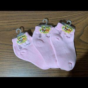 Girls Organic Cotton Socks - 1-2yrs
